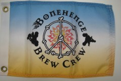 BONEHENGE BREW CREW DIGITAL PRINTED FLAG