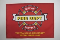 CITY OF SEATTLE FIRE DEPARTMENT LOGO FLAG