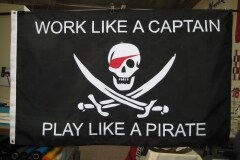 CUSTOM PIRATE LOGO FLAG