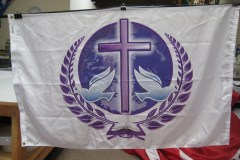 CUSTOM RELIGIOUS DIGITALLY PRINTED FLAG