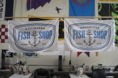 ENCINITAS FISH SHOP DIGITALLY PRINTED FLAG