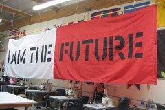 I AM THE FUTURE PERSONAL LOGO FLAG
