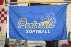 PENINSULA SOFTBALL DIGITALLY PRINTED FLAG
