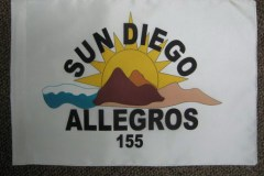 SuN DIEGO ALLEGROS PERSONAL APPLIQUE FLAG