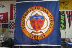 UNIVERSITY OF SAN DIEGO LOGO FLAG