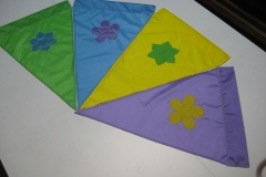 COLORFUL EASTER COLORED APPLIQUE PENNANTS