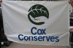 COX CONSERVES CORPORATE LOGO APPLIQUE FLAG