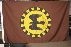 CUSTOM BROWN SWOLLOW APPLIQUE FLAG