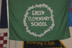GREEN ELEMENTARY SCHOOL APPLIQUE FLAG