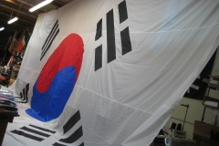 LARGE KOREAN APPLIQUE FLAG