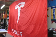 LARGE TESLA LOGO FLAG