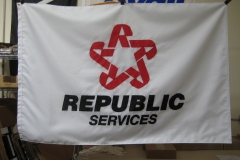 REPUBLIC SERVICES CUSTOM APPLIQUE FLAG