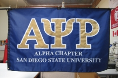 SAN DIEGO STATE UNIVERSITY ALPHA CHAPTER APPLIQUE FLAG