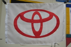 TOYOTA MOTERS COPORATE LOGO APPLIQUE FLAG