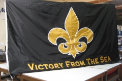 VICTORY FROM THE SEA APPLIQUE FLAG
