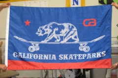CALIFORNIA SKATEPARKS LOGO FLAG