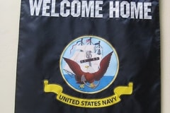 Custom USN Welcome Home Banner