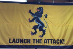 USS SPRUANCE LAUNCH THE ATTACK BATTLE FLAG