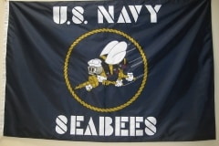 United States Seabees Custom Military Flag