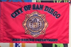City of San Diego Fire and Rescue applique print