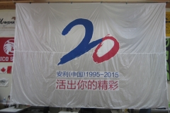 AMWAY CORPORATE LOGO FLAG BACK SIDE