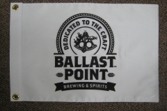 BLACK AND WHITE BALLAST POINT BREWERY CORPORATE LOGO FLAG