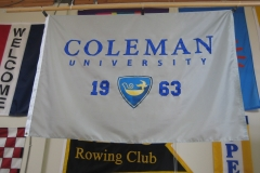 COLEMAN UNIVERSITY CORPORATE LOGO FLAG
