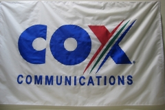 COX COMMUNICATIONS CORPORATE LOGO FLAG