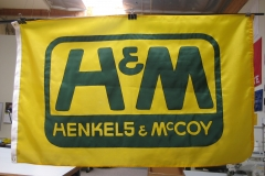 H&M HENKELS MCCOY CORPORATE LOGO FLAG