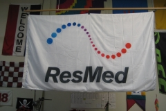 RESMED CORPORATE LOGO FLAG