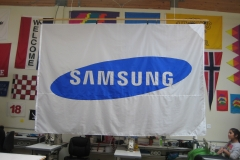 SAMSUNG CORPORATE LOGO FLAG