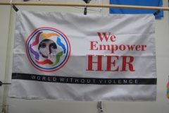 WE EMPOWER HER MOVEMENT CORPORATE LOGO FLAG