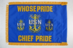 Custom USS Boxer FY 16 Guidon with Fringe Back