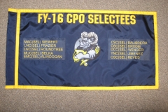 Large Custom USN FY 16 CPO SELECTEES Guidon Back