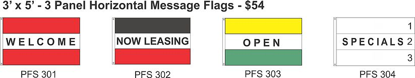 panel horizontal message flag