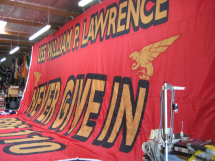 USS Lawrence Never Give In Battle Flag