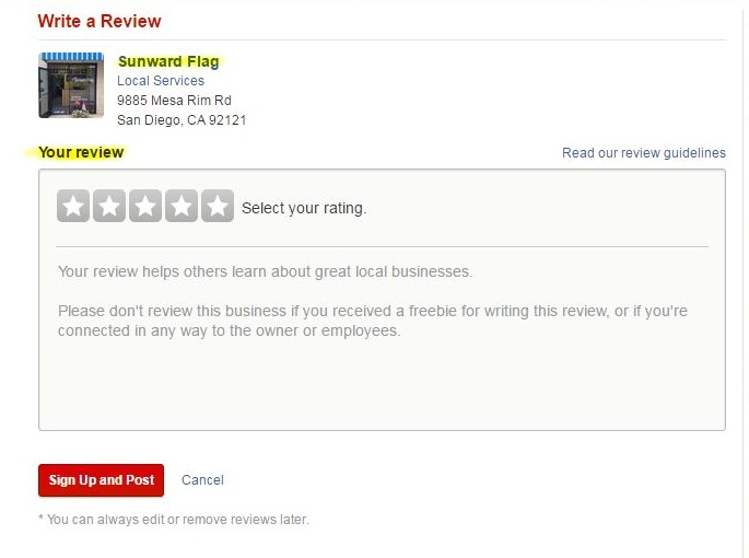 yelp screen capture